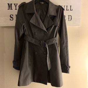 H&M Trench Coat Gray size 4